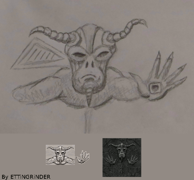 Digitization of a demon drawing